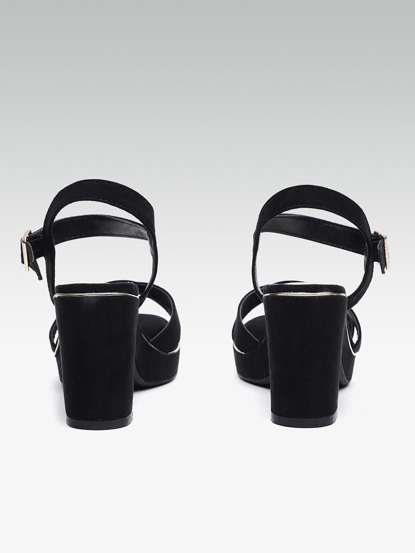DOROTHY PERKINS Women Black Solid Sandals