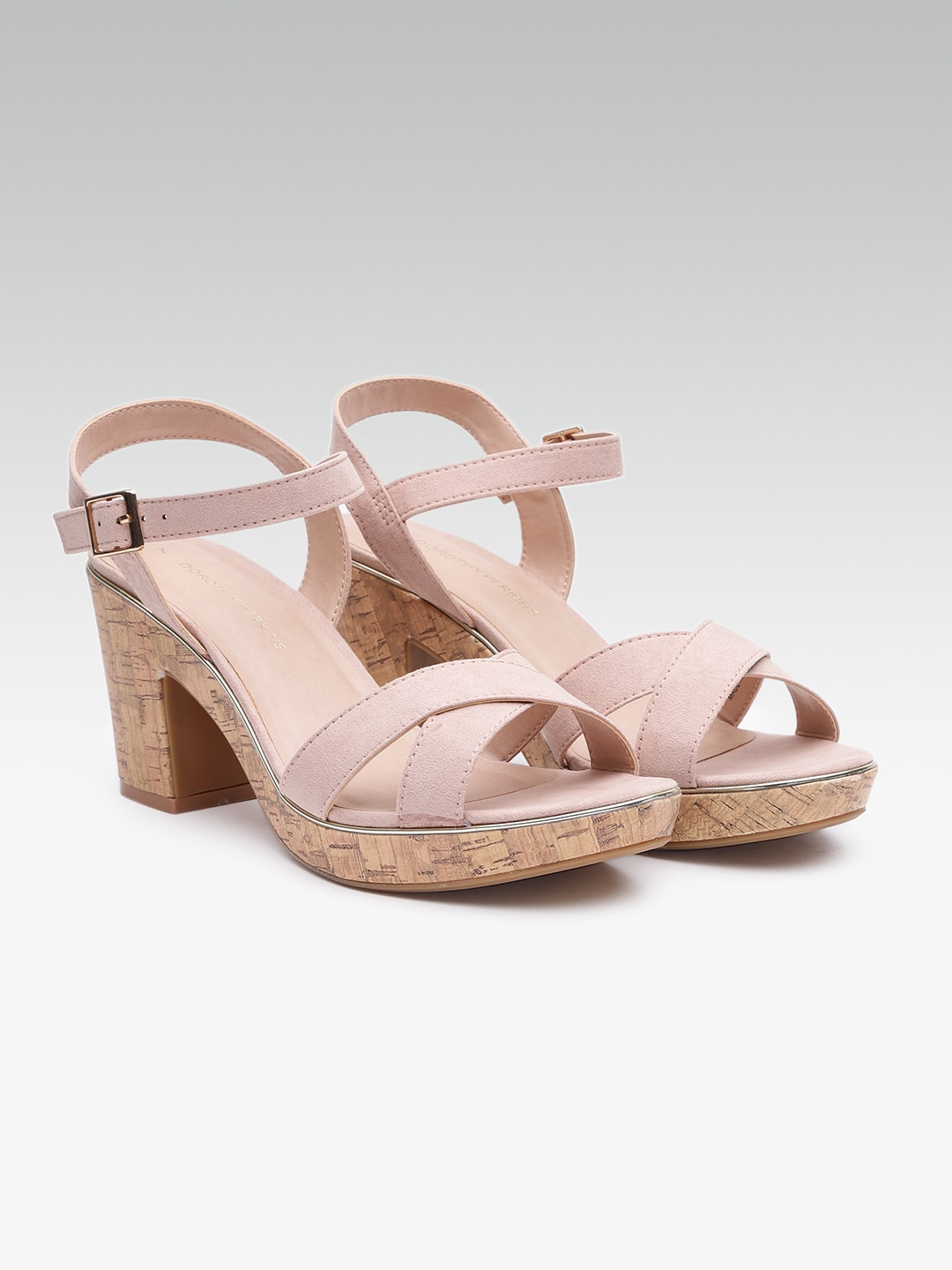 DOROTHY PERKINS Women Dusty Pink Solid Sandals