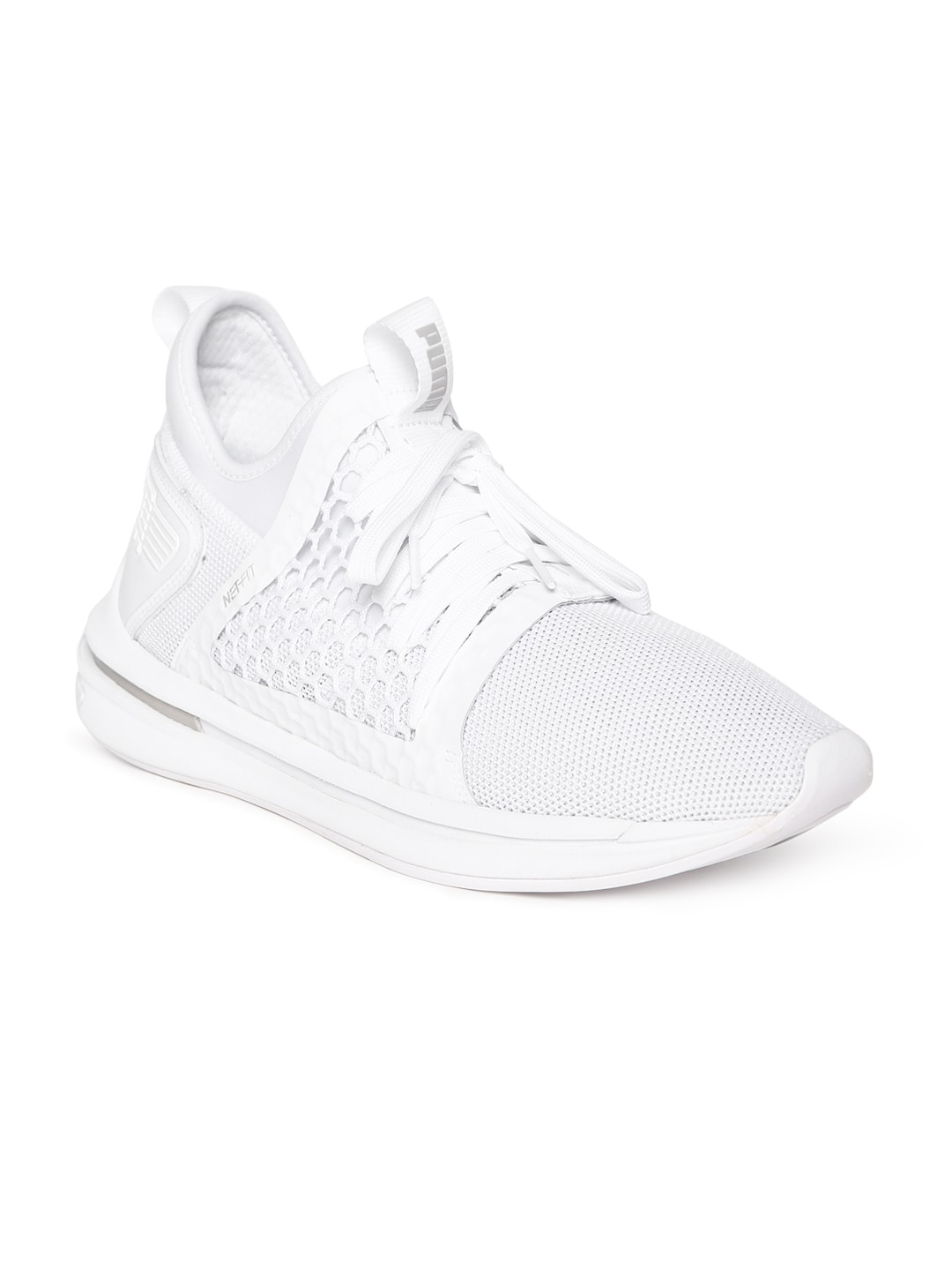 Puma Men White Mesh IGNITE Limitless SR NETFIT Mid-Top Running Shoes 93274b830