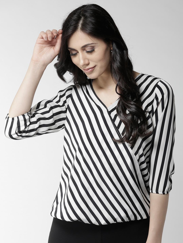 33f52a506e15f Style Quotient Stripe Topwear - Buy Style Quotient Stripe Topwear online in  India