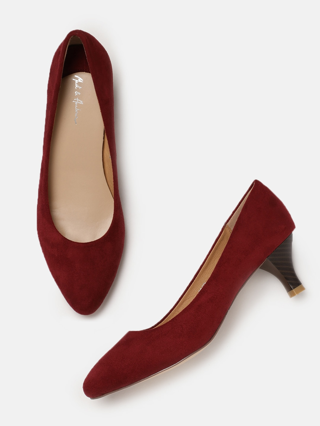 Heels Online Buy High Pencil Sandals Myntra Glamour Suede Red