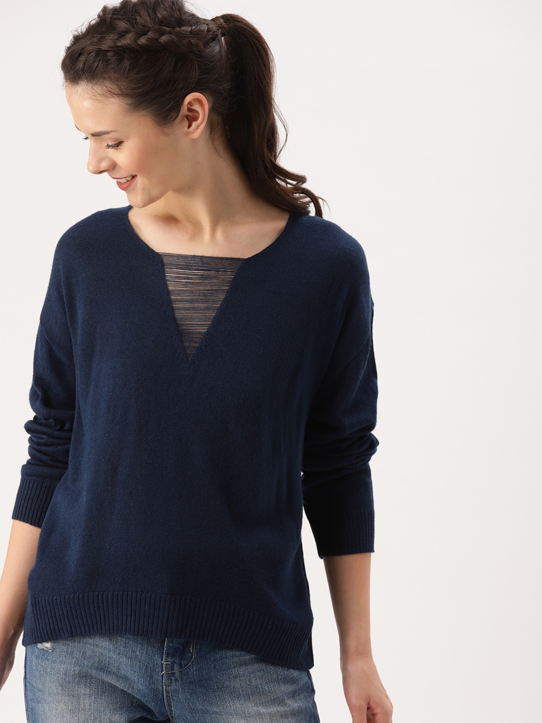 f199e5bc54 Sweaters for Women - Buy Womens Sweaters Online - Myntra