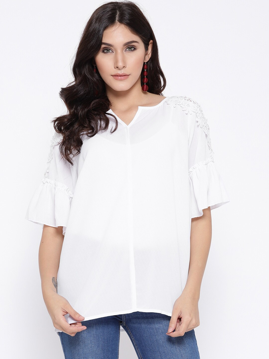 75cd6121a235 Ladies Tops - Buy Tops   T-shirts for Women Online