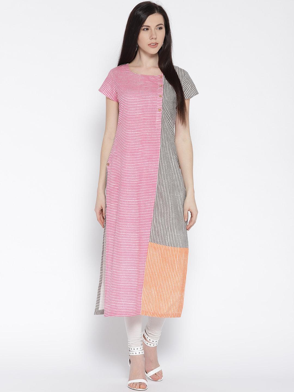 0d2a8db5f37fde Varanga Pink Kurtas - Buy Varanga Pink Kurtas online in India