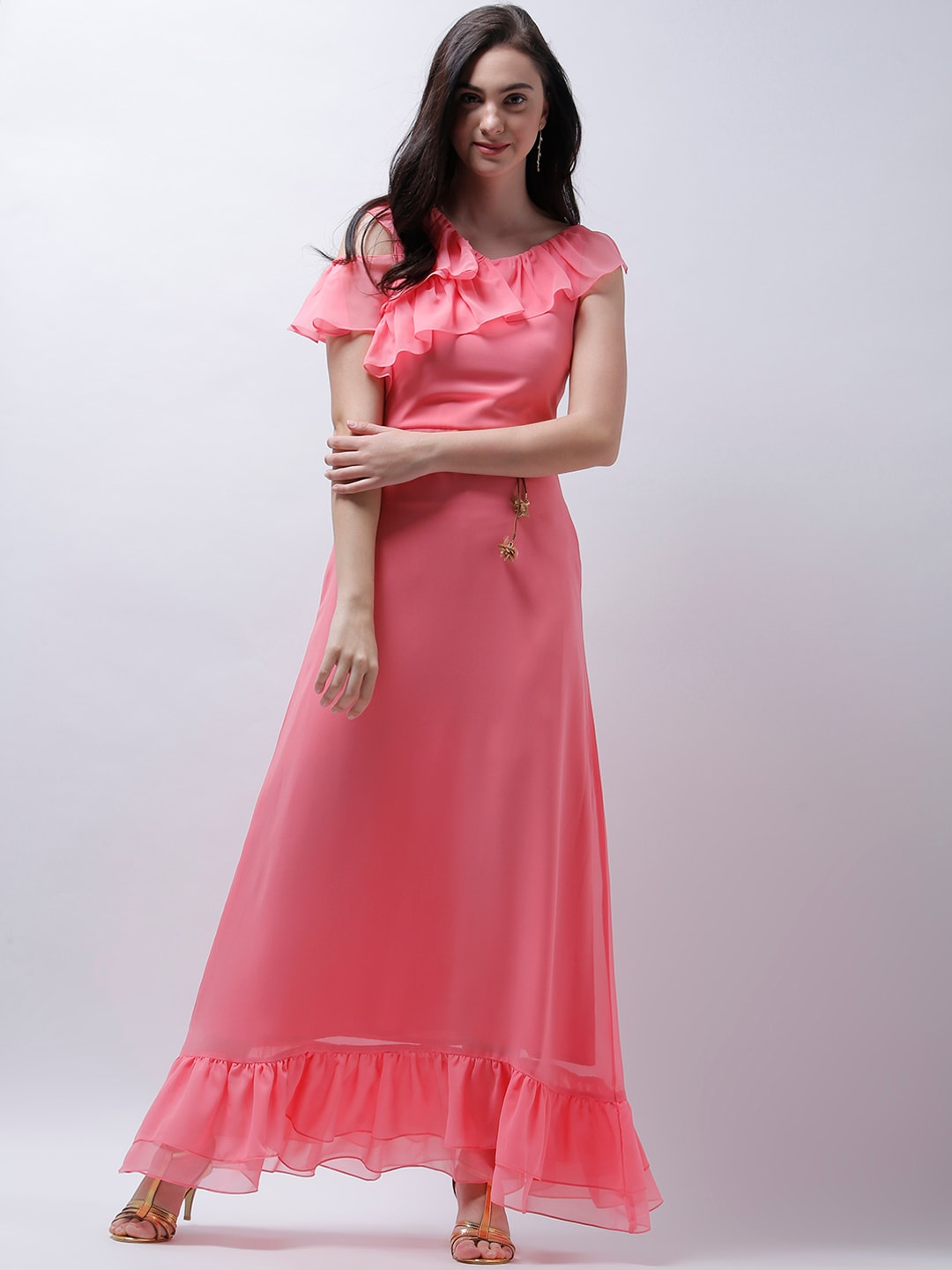 bc24a8dfd89f5 Pink Dress Women Dresses Hand - Buy Pink Dress Women Dresses Hand online in  India