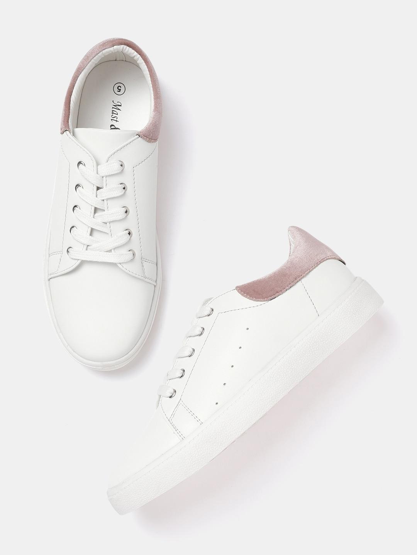 pretty cheap search for authentic cheaper Mast & Harbour Women White Sneakers
