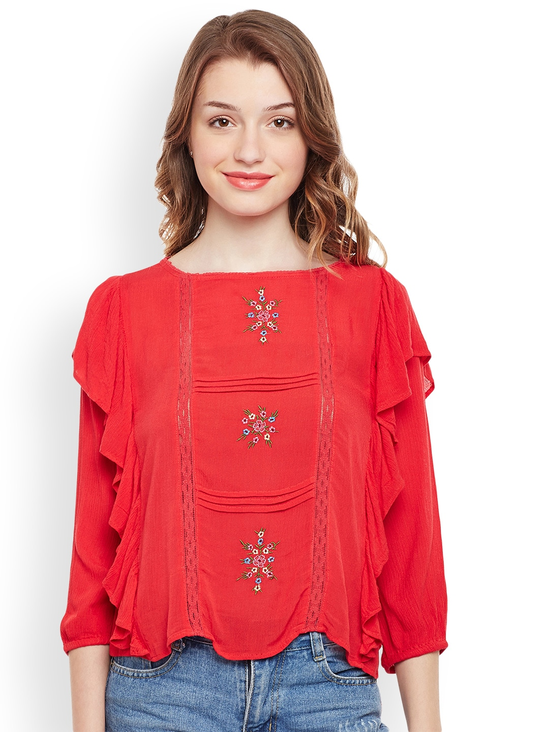 83106e15dec092 Red Top - Buy Red Tops Online at Best Price in India