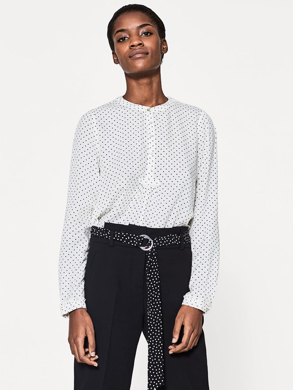 Printed Shirt Style Top