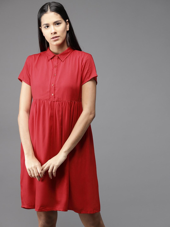 0d8b57c1d63be Women Red Dresses Jumpsuit - Buy Women Red Dresses Jumpsuit online in India