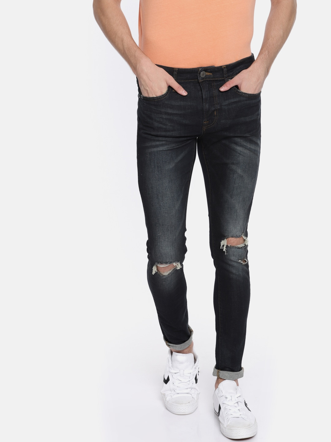 9cd62caeb7a I Wand To See Ripped Jeans Rompers - Buy I Wand To See Ripped Jeans Rompers  online in India