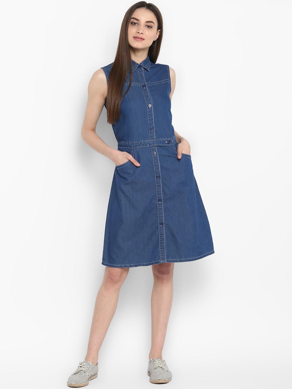 6d632c05d109 Denim Dresses - Buy Denim Dresses Online in India