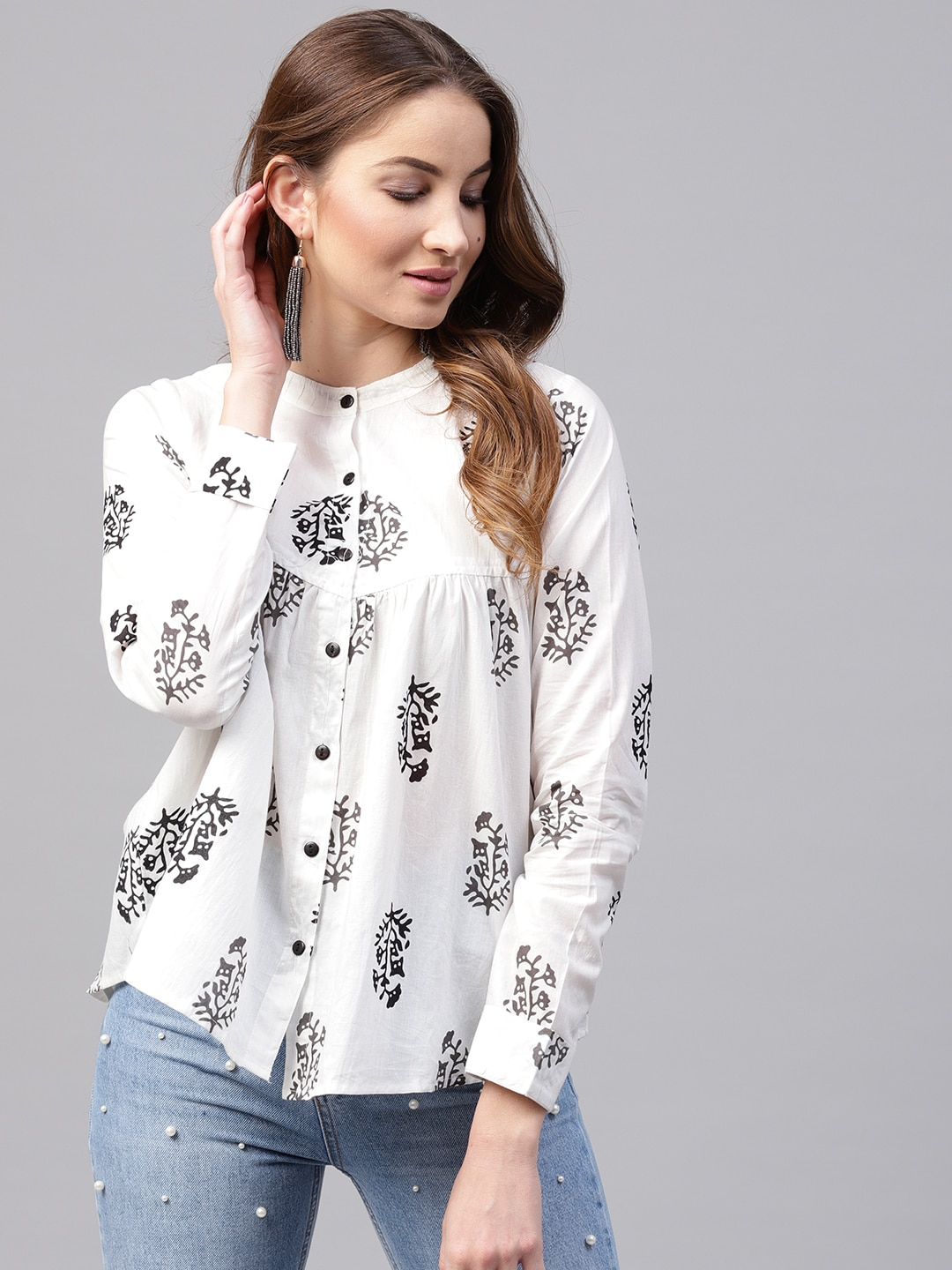 808b5802a8d47 Ladies Tops - Buy Tops   T-shirts for Women Online