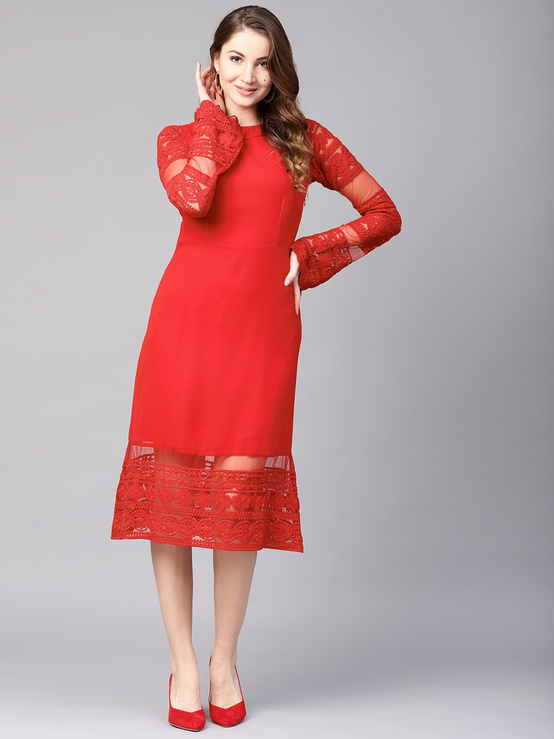 401ee5bddf Red Dress - Buy Trendy Red Colour Dresses Online in India