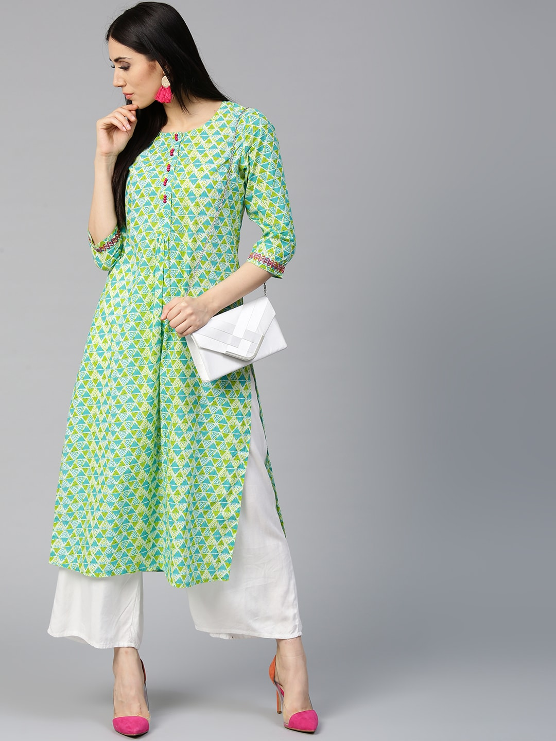 00fb18efe Kurtis Online - Buy Designer Kurtis   Suits for Women - Myntra