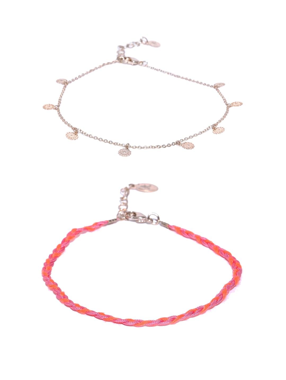 Gold Anklet Buy Designer Anklets For Women Online Myntra Lighting Diagram Jewelry