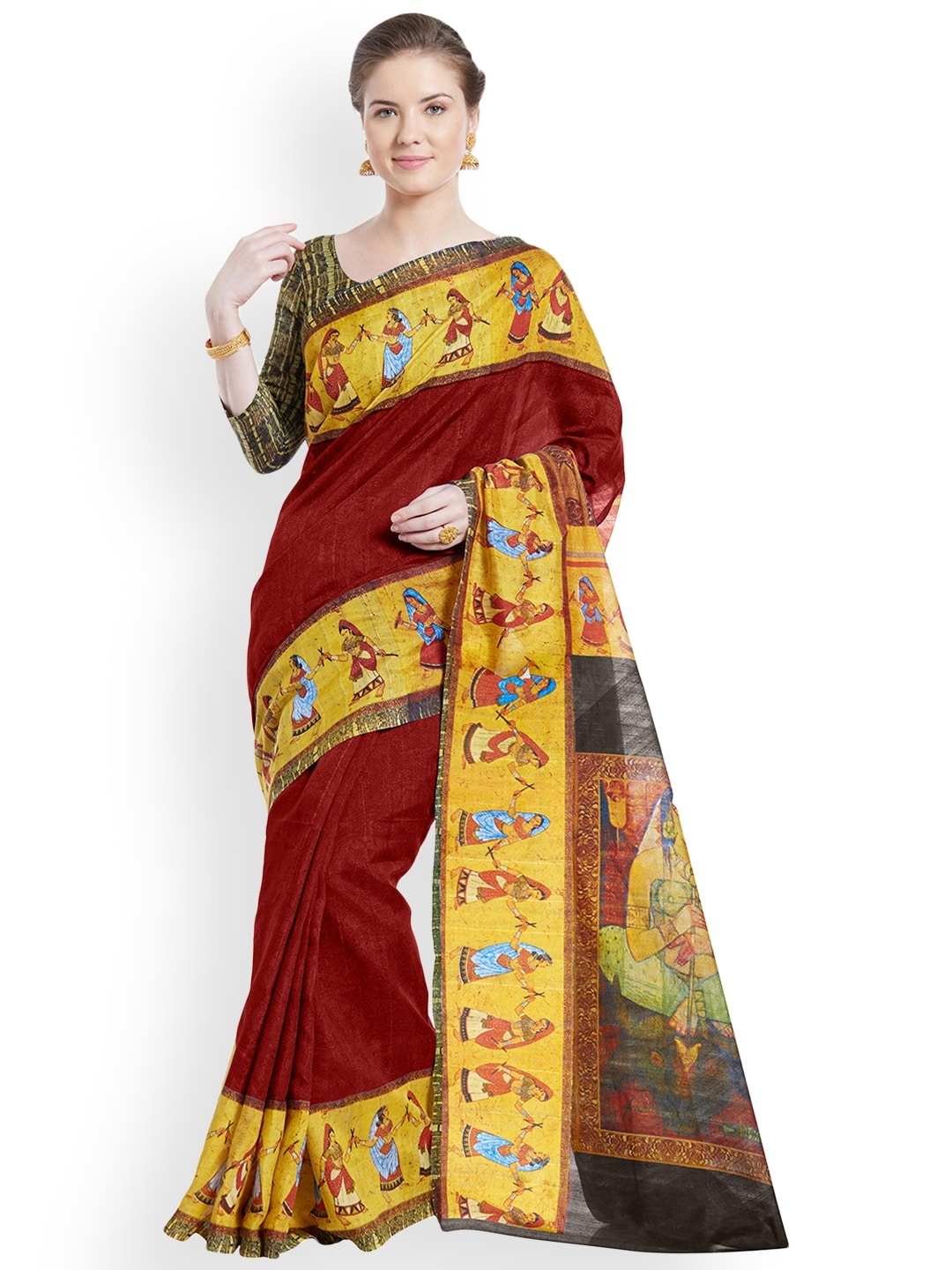 9fefd3ce95d66 Mirchi Fashion Sarees Saree Blouse - Buy Mirchi Fashion Sarees Saree Blouse  online in India