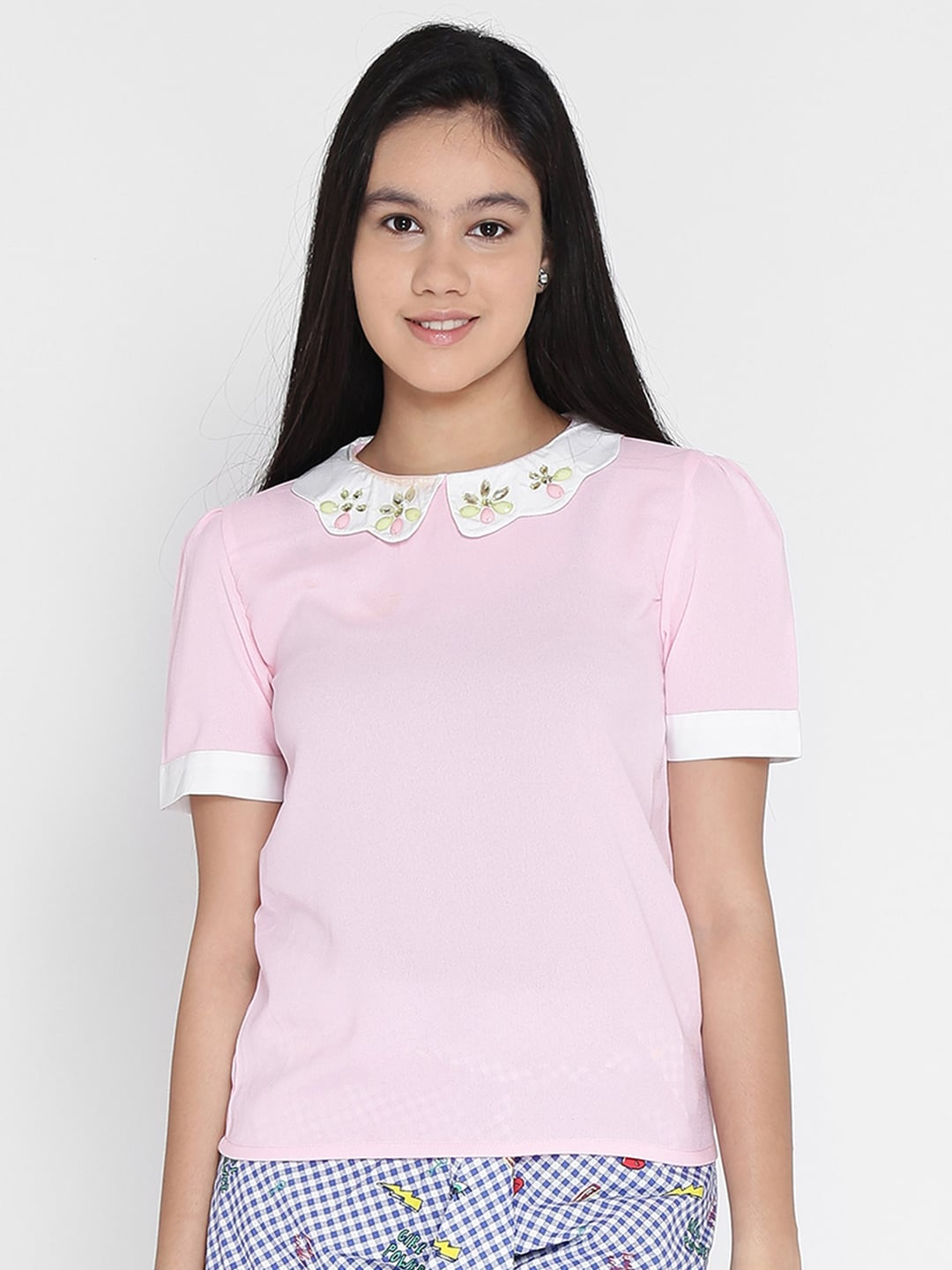 e8450486577 Peter Pan Collar Tops - Buy Peter Pan Collar Tops online in India