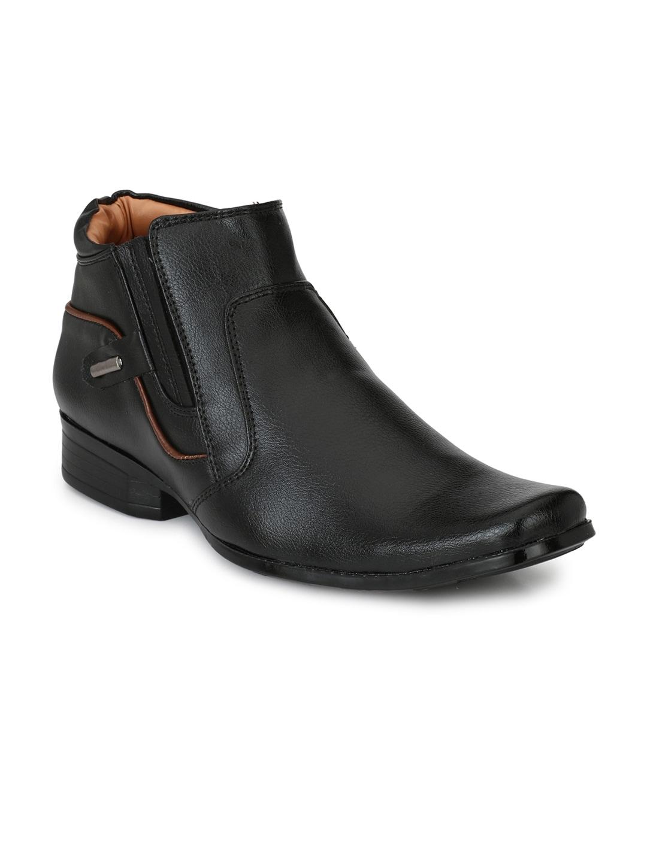 Mactree Men Black Semi-Formal Slip-Ons
