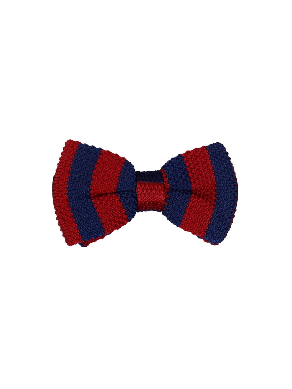 5cd29adea1 Tossido Maroon & Navy Blue Woven Design Bow Tie