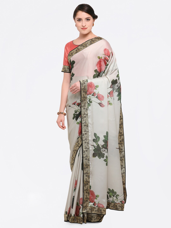 d64742b329f61 Satin Sarees - Appealing Satin Sarees Collection Online in India - Myntra