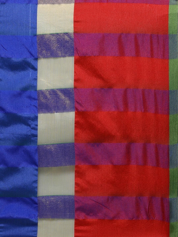 Saree mall Green Silk Cotton Solid Banarasi Saree