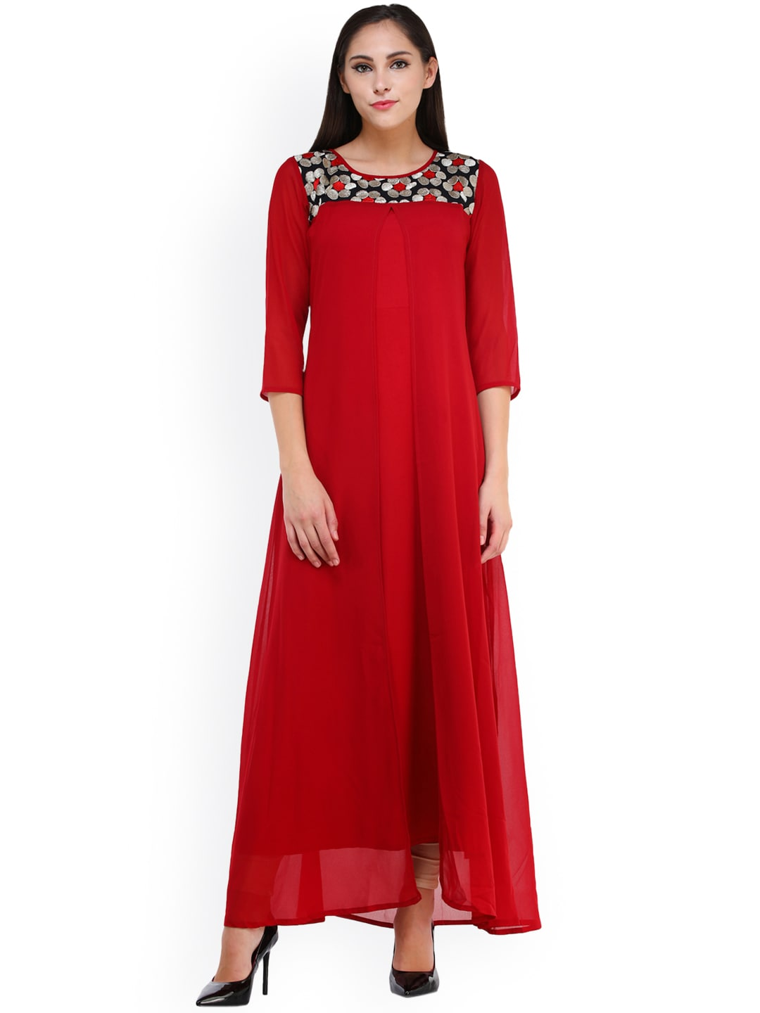 Long Dresses - Buy Maxi Dresses for Women Online in India - Upto 70% OFF 909dc4462