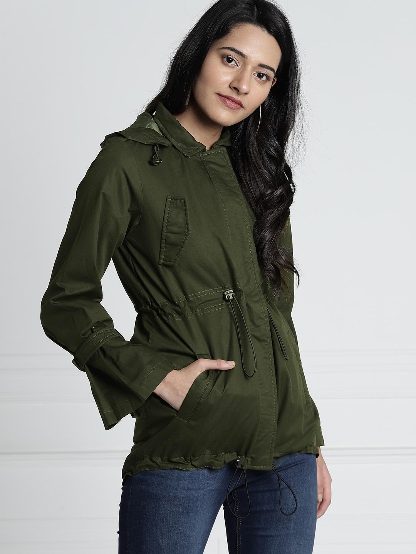 edaa7eda3 Women Olive Jackets - Buy Women Olive Jackets online in India