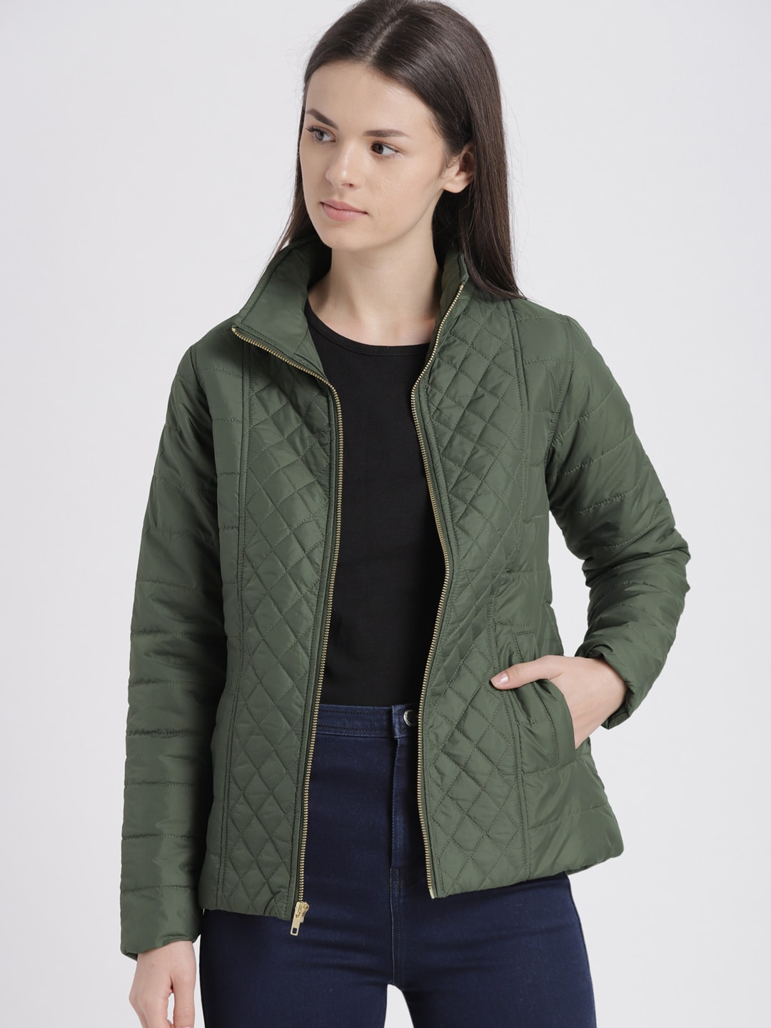 730600758 Olive Green Jackets - Buy Olive Green Jackets online in India