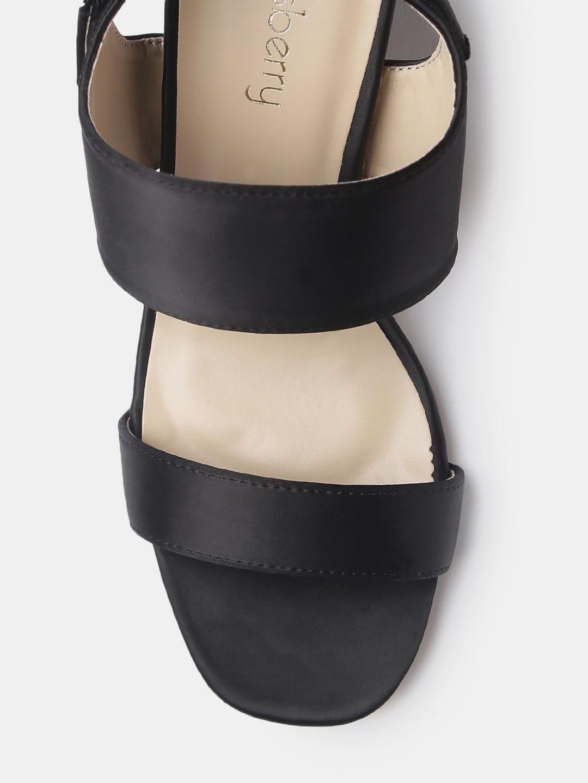 DressBerry Women Black Solid Block Heels