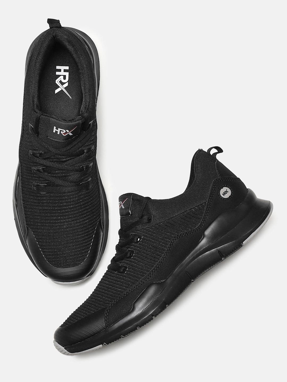 best authentic 545f2 1e7a8 HRX by Hrithik Roshan Men Black Rep Flex-1 Running Shoes