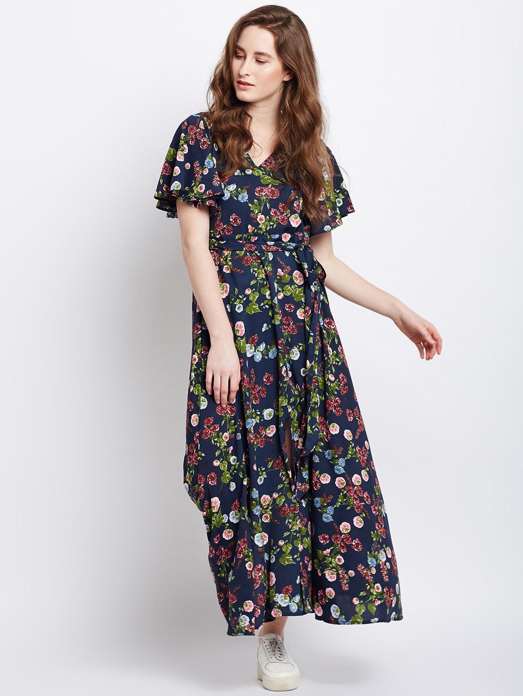 f8a22345dc6 Women Printed Blue Dress Dresses Tunics - Buy Women Printed Blue Dress  Dresses Tunics online in India