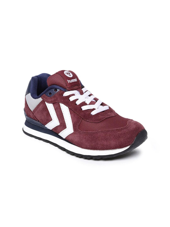 635b07ff381ee9 hummel Women Burgundy   Blue EIGHTYONE Suede Sneakers