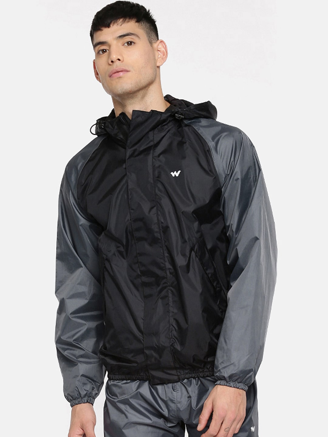 fd7835bd7 Wildcraft Grey and Black Rain Jacket 2 Tone