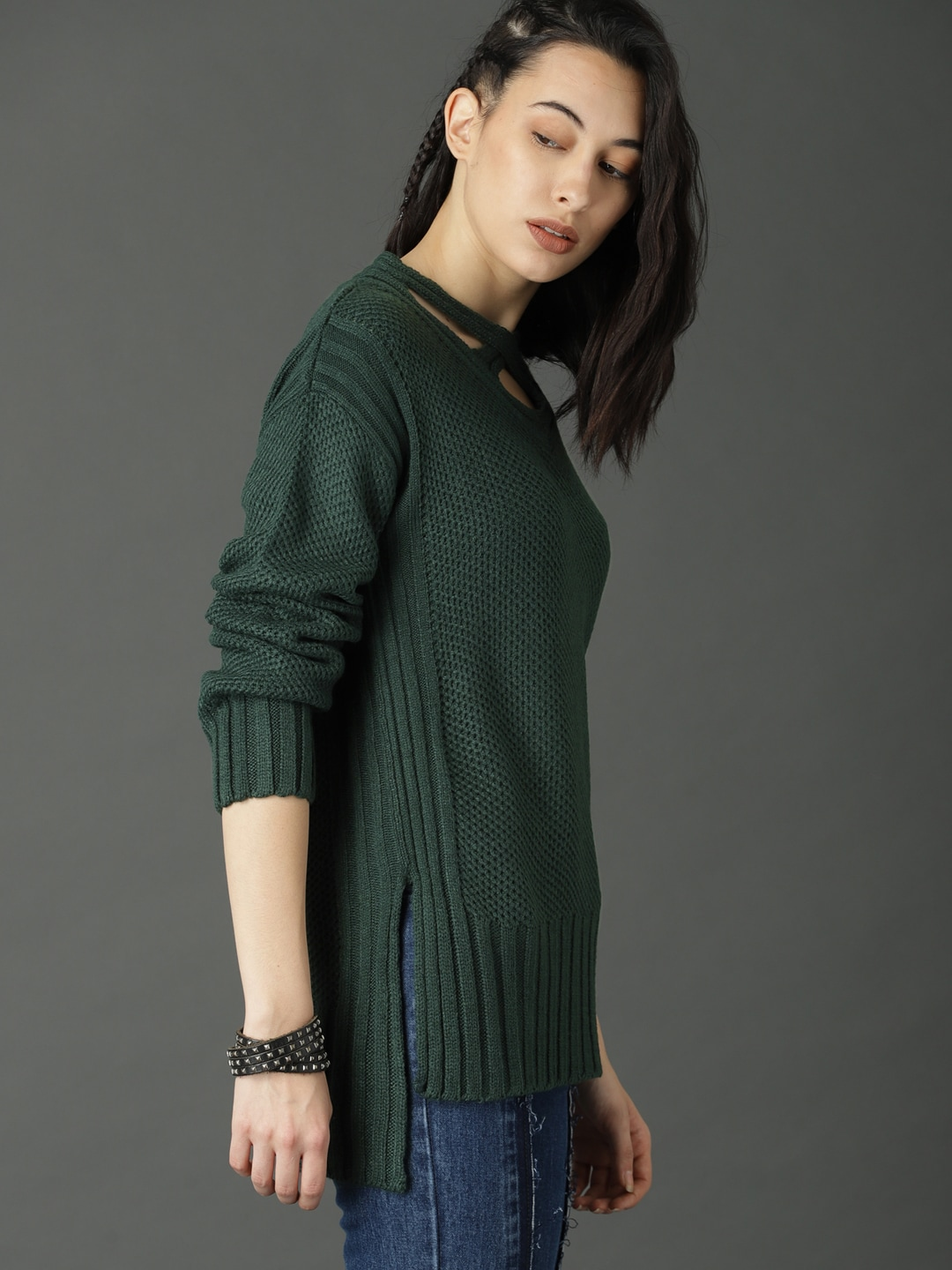8903037eac Sweaters for Women - Buy Womens Sweaters Online - Myntra