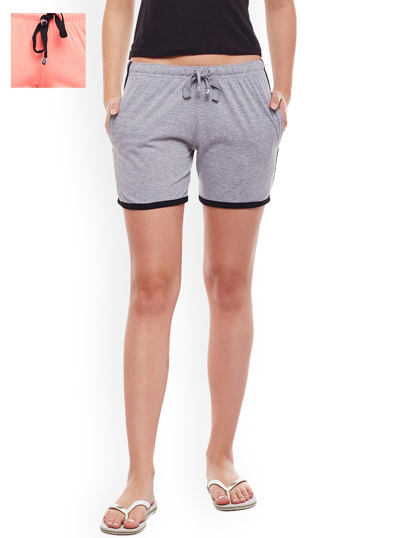 735dd075b1a Women Peach Shorts - Buy Women Peach Shorts online in India