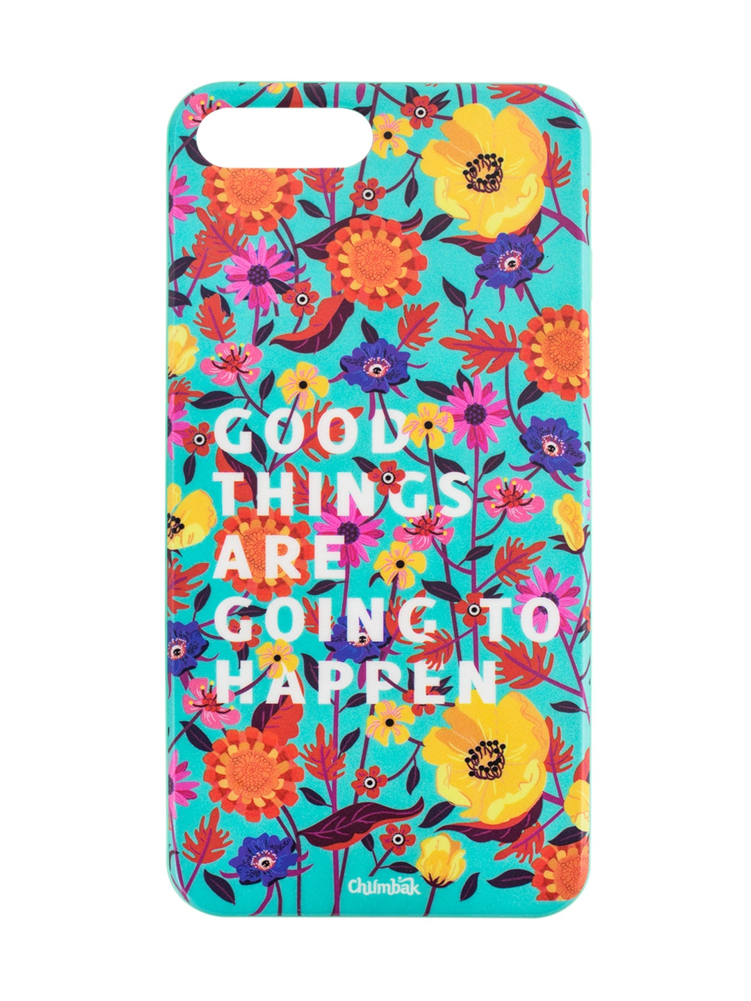detailed look e37ed 845e1 Chumbak Turquoise Blue Good Things Printed iPhone 7 and 8 Case