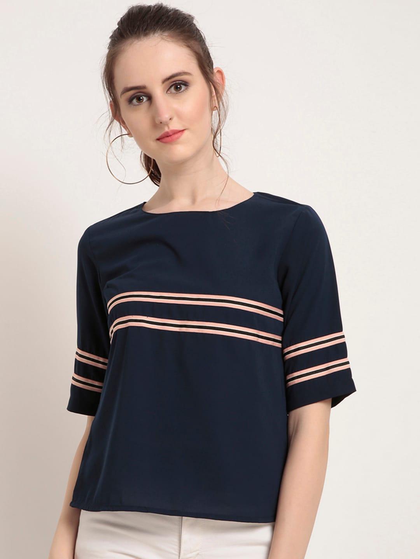 c82e9b3fc64a Women Striped Tops - Buy Women Striped Tops online in India