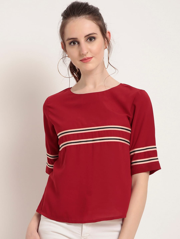 67dd4e0b26a10 Women Striped Tops - Buy Women Striped Tops online in India