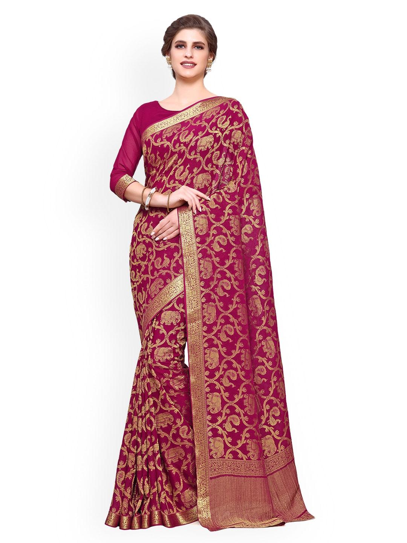 b96d4071891661 Chiffon Saree - Buy Elegant Chiffon Sarees online - Myntra
