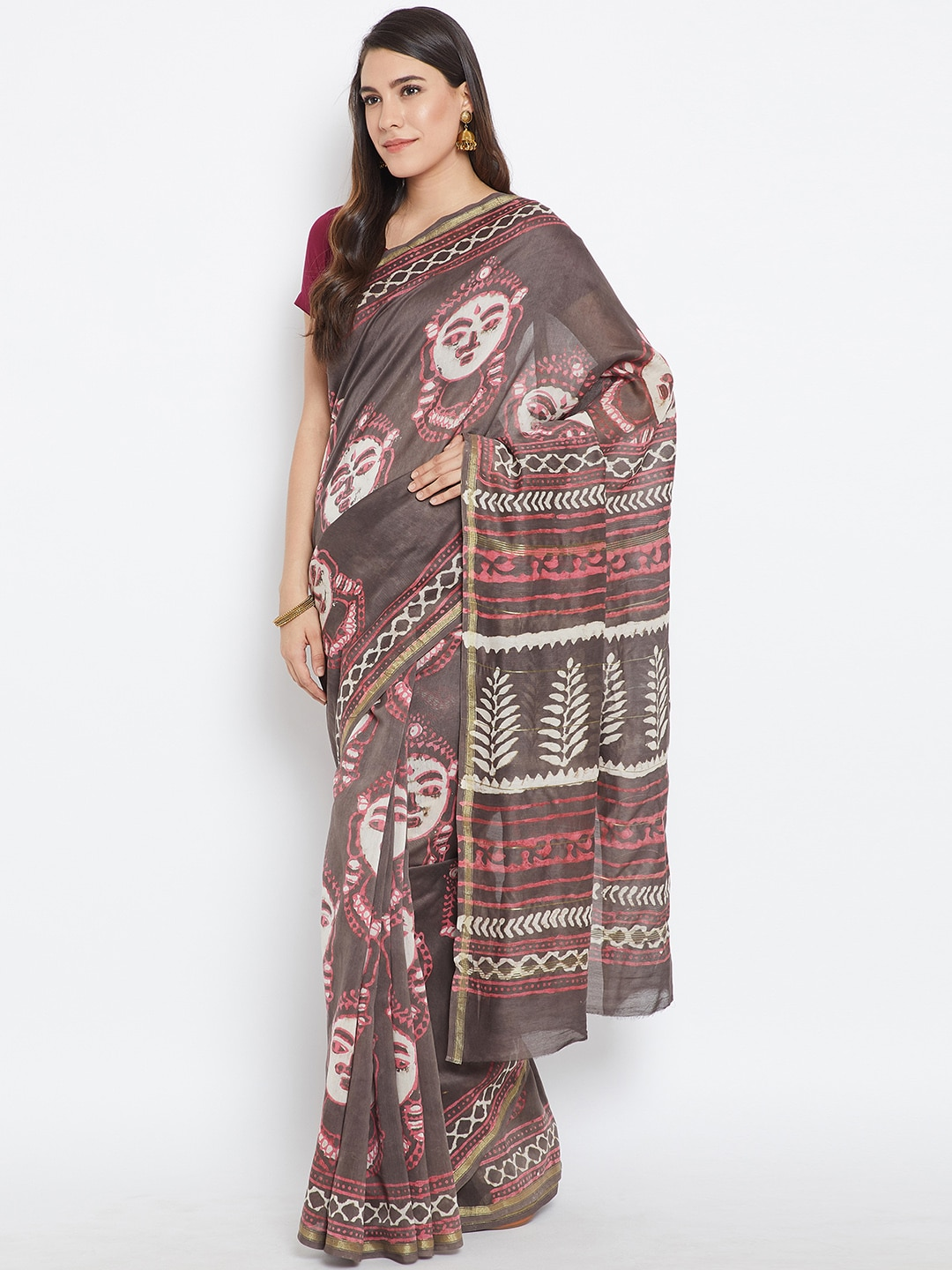 07d7fc44f1b4b Women Sarees Watches Scarves - Buy Women Sarees Watches Scarves online in  India