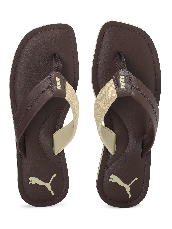 dd7437db2 Puma Men Brown Flip Flops - Buy Puma Men Brown Flip Flops online in India