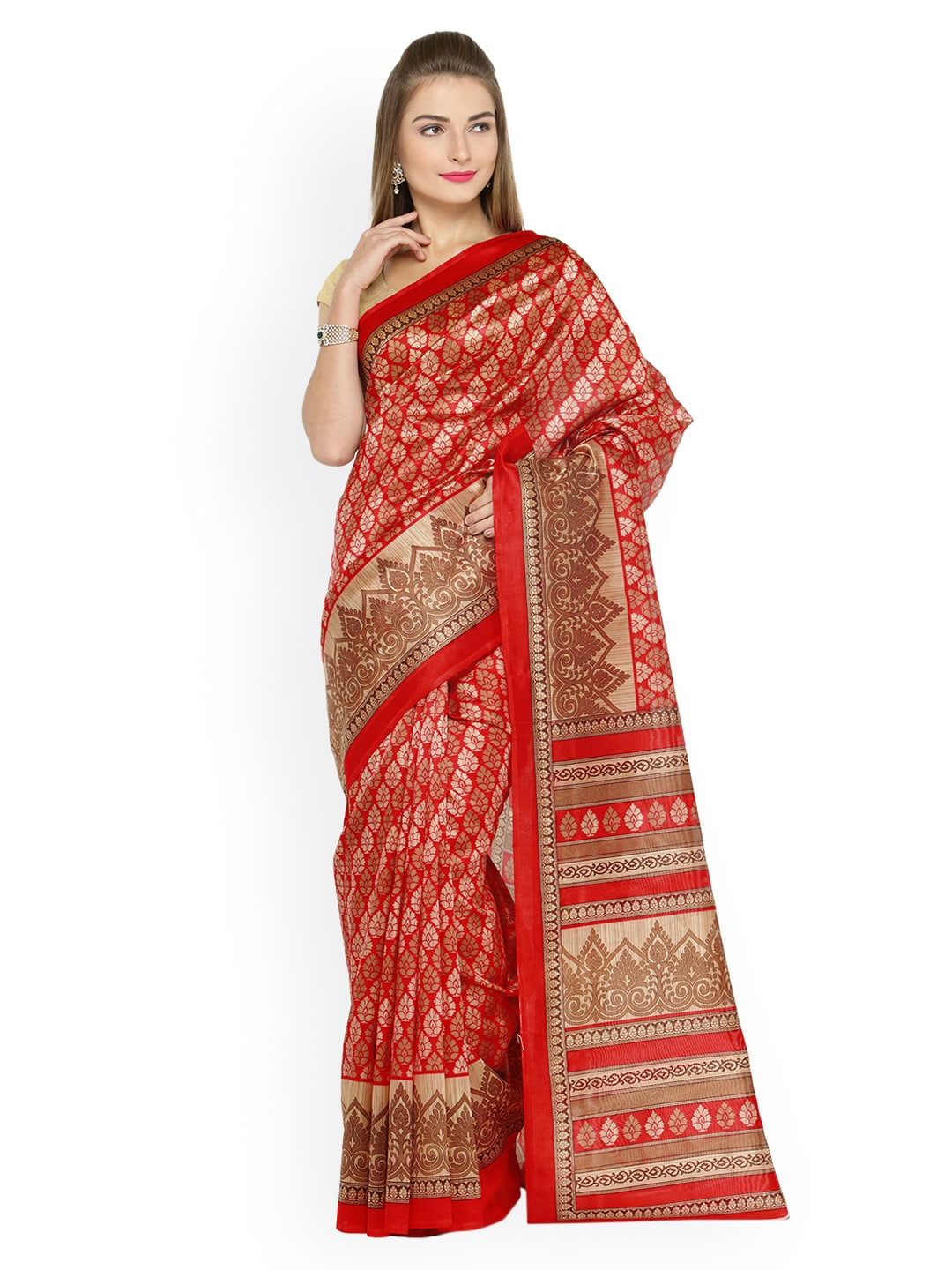 35547c9f6c2a5 Red Saree - Buy Red Color Fashion Sarees Online