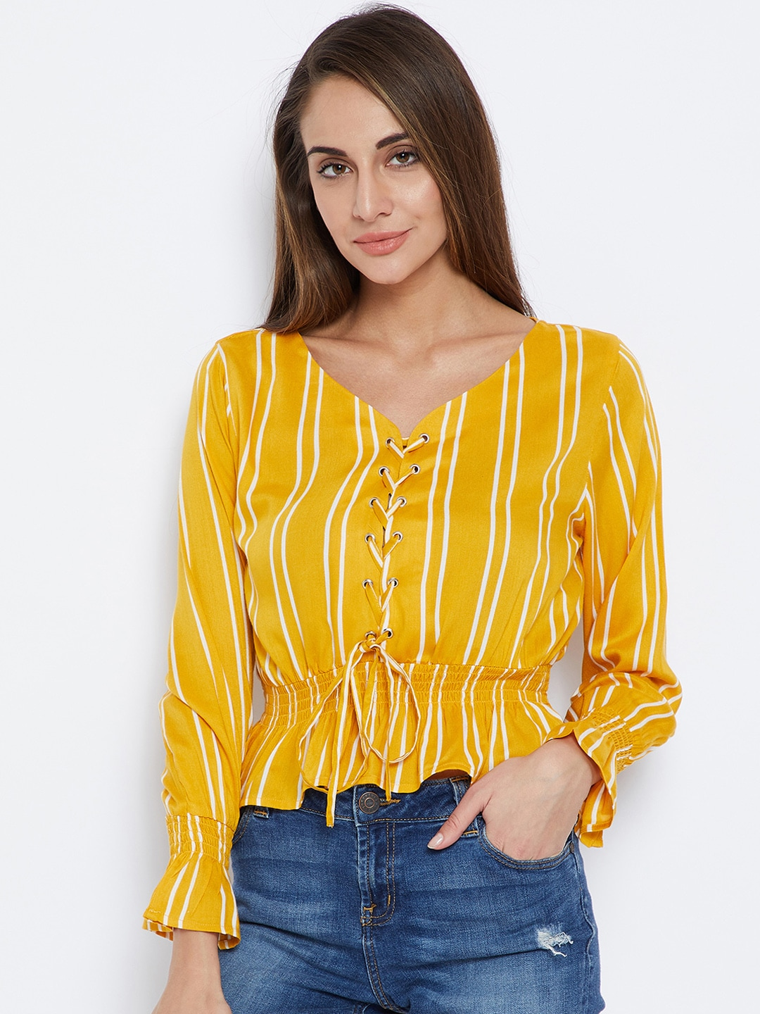 ef5597f1701735 Crop Tops - Buy Midriff Crop Tops Online for Women in India