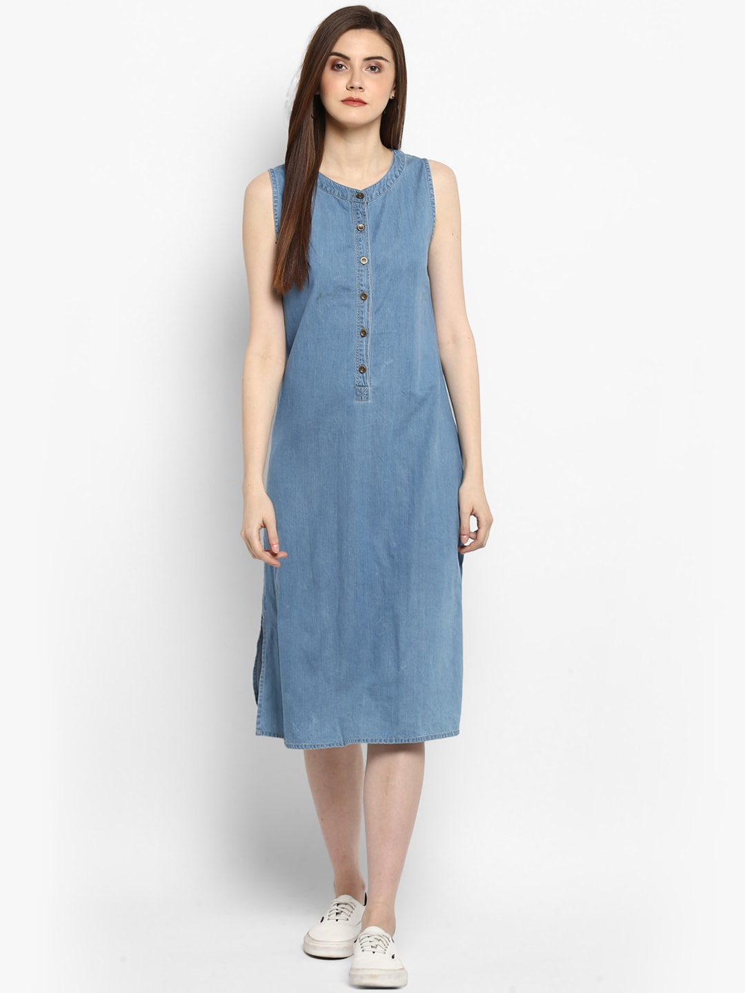 5084b115e0 Blue Denim Dresses - Buy Blue Denim Dresses online in India