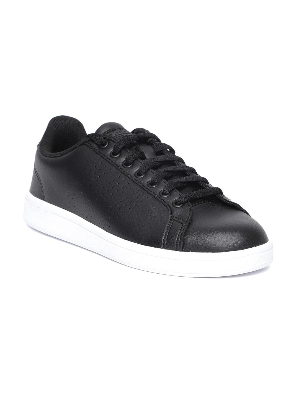 online retailer bfcd0 265e5 ADIDAS Men Black Cloudfoam Advantage CL Tennis Shoes
