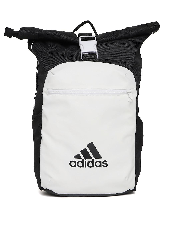 1415844fe ADIDAS Unisex White & Black ATHL Core Colourblocked Backpack