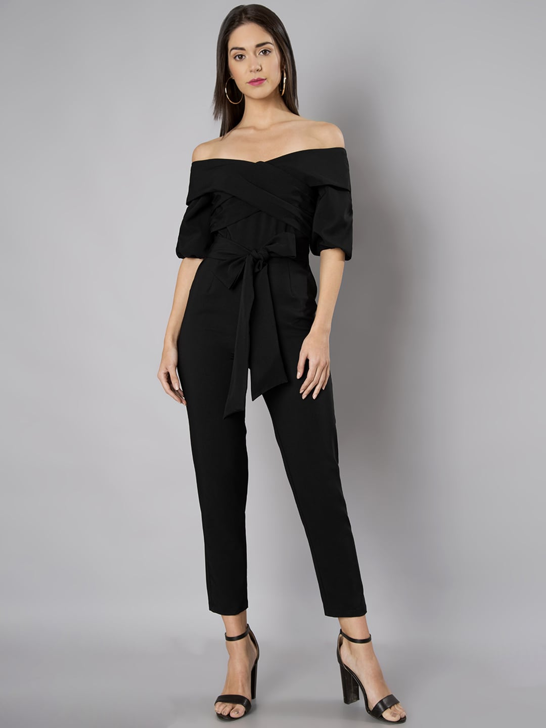 73fd145a6527 Faballey Black Jumpsuit - Buy Faballey Black Jumpsuit online in India