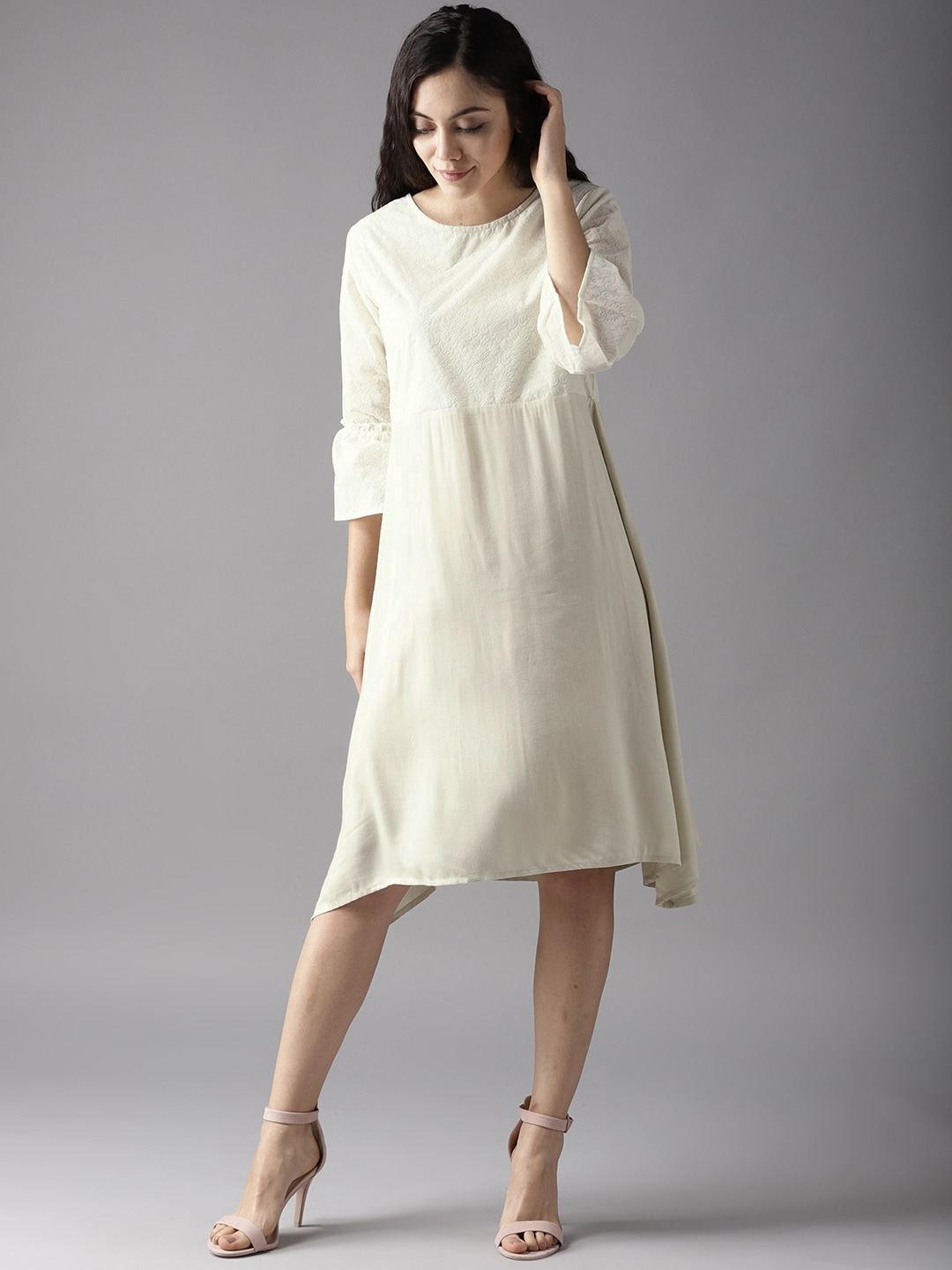 31ef63a78f5f Cream Dresses - Buy Cream Dresses online in India