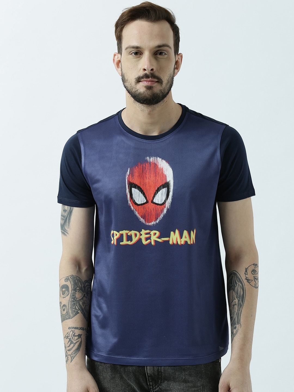 Spiderman Tshirts Buy Online In India Torch Tshirt Women Blue Black Navy M