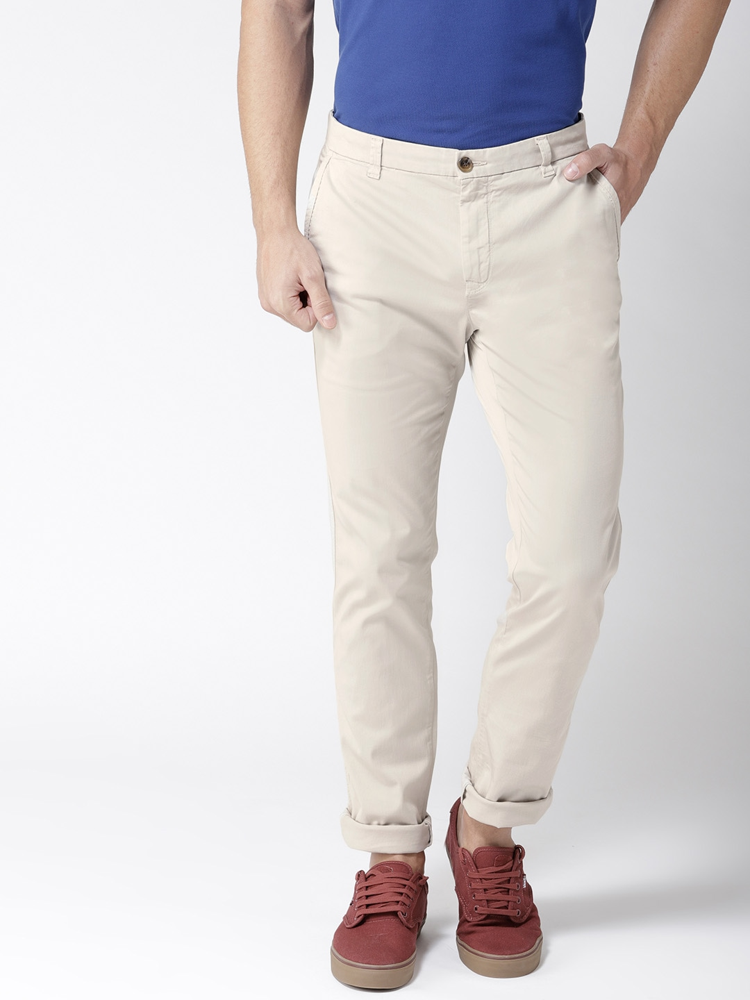 8faa8c01 Men Beige Trousers - Buy Men Beige Trousers online in India